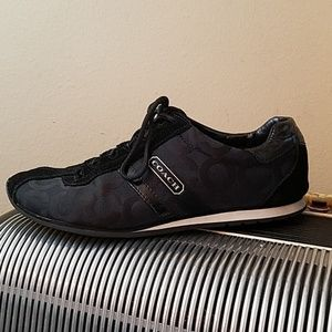 GORGEOUS COACH BLACK SIGNATURE CANVAS SNEAKERS